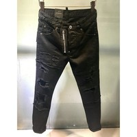 water washing Ripped Jeans Men Holes Denim Super Skinny Men's Casual Stretch Jeans Trousers Slim Fit Scratched Pants More style