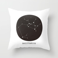 Sagittarius Star Constellation Throw Pillow by Clarissa Di Nicola