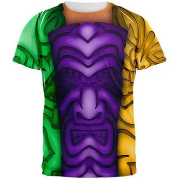 PEAPGQ9 Mardi Gras Tiki Glass Party All Over Mens T Shirt