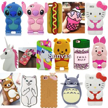 3D Cartoon Phone Cases for iPhone 6 cases, iPhone 5 Cases,