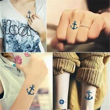 (Min order $0.5) Temporary Tattoo  For Man Woman Waterproof Stickers makeup maquiagem make up Anchor compass  tattoo WM053