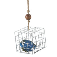 Blue Crab Trap Christmas Holiday Ornament