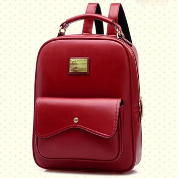 Fashionable Satchel of England Classic Style; Preppy Chic Schoolbag of Korean Style;it Can Be Used As Female Travel Backpack and Schoolbag; Leisure Package [8081692743]
