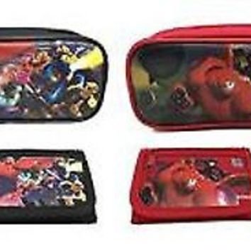 Big Hero 6 Pencil Pouch/Pencil Cases and Wallets by Disney Combo-Brand New!