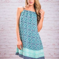 Through The Meadows Dress, Mint