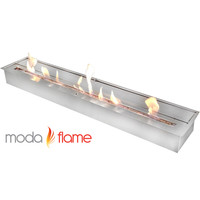 "47"" Indoor Outdoor Gel Fuel Ethanol Fireplace Burner Insert Stainless Steel"