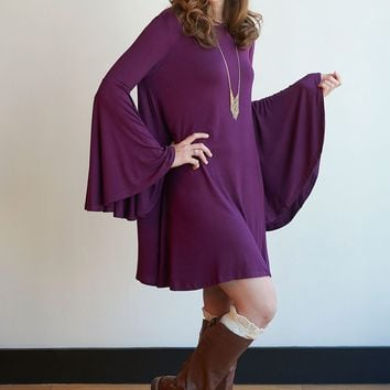 Sweet 70's Bell Sleeve Dress - 5 Colors!