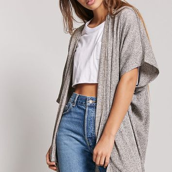 Marled Knit Duster Cardigan