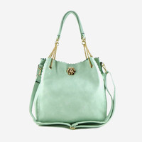 Mint Scalloped Tote