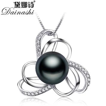 90%OFF  $ 5.95- $8.99 Charms Black Pearl Pendant Necklace For Women Jewelry  100%Natural Freshwater Pearl
