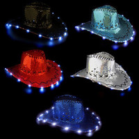Lite-Up Sequin Cowboy Hat - 3 Function (Each): Rebecca's Novelty Importer