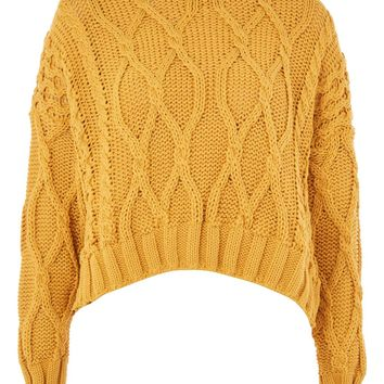 Cropped Cable Jumper