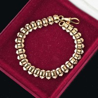 Antique Rose Gold Mens Fancy Link Chain Bracelet