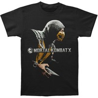Mortal Kombat Men's  Scorpion T-shirt Black Rockabilia