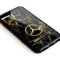 Mercedes Benz AMG Golden Marble Logo iPhone 5 5s 5c 6 6s 7 8 X Plus Cover Case