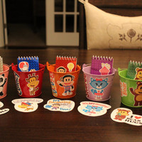 Julius Jr. Party Favor Kit...Includes 5 Two-Sided Tin Pails, 5 notepads, & 5 stickers...everything you need!