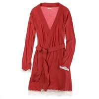 Aerie Softest Lace Trim Robe | Aerie for American Eagle