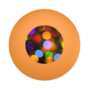 Multicolored Christmas lights. Ping Pong Ball