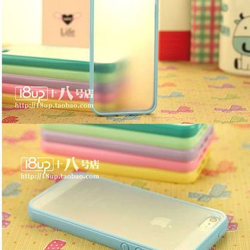 iPhone 5/5s premium clear matte case with bumper