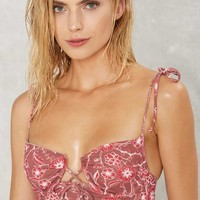 For Love & Lemons Riviera Floral Bikini Top