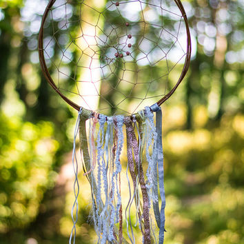Boho Dreamcatcher - Boho Bohemian Wall Hanging Dream Catcher Baby Tribal Crib Nursery Baby Feathers Baby Boy Girl