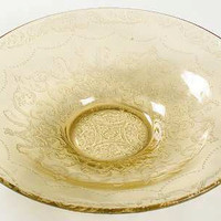 Console Bowl Amber Madrid Pattern