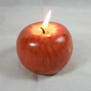 1pcs Mini AppleTable Light Home Garden Candle  Birthday Candle Decoration Home Party Candles Wedding Favors and Gifts