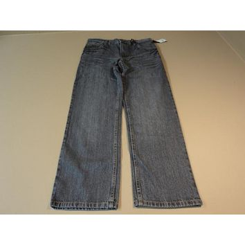 Faded Glory Boys Pants Straight Cut 100% Cotton Male Kids 14 Blues FB10205B -- New With Tags