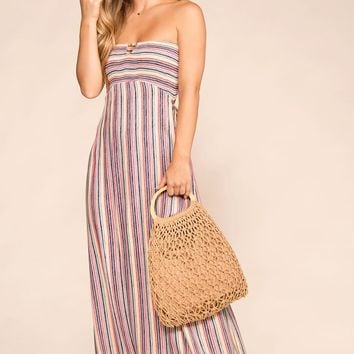 Playing Games Striped Maxi Dress