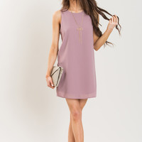 Trish Mauve Shift Dress