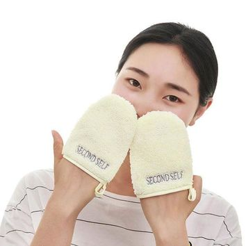 ESBON Makeup Remover Cleansing Gloves 1pcs Facial Scrubber Pad Durable Pore Cleansing and Face Remover Puff Tool New Arrival