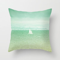 Sail Away... Throw Pillow by Lisa Argyropoulos