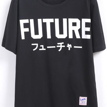 FUTURE Print Short Sleeve Graphic T-shirt