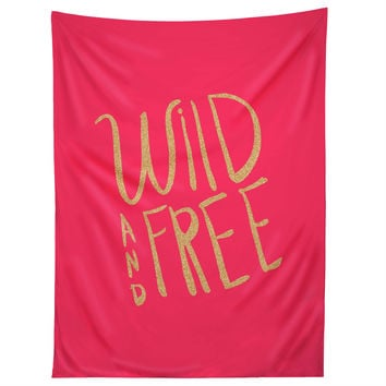 Allyson Johnson Wild and free glitter Tapestry