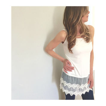 Lace Extender, Lace Top Extender, Tank Top Extender, Lace Cami