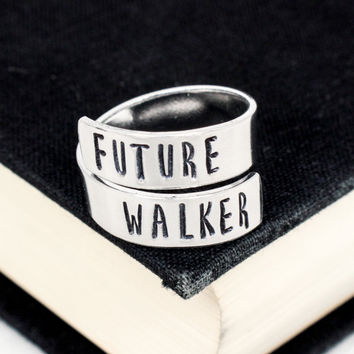 Future Walker Ring - The Walking Dead - Zombies - Adjustable Aluminum Wrap Ring