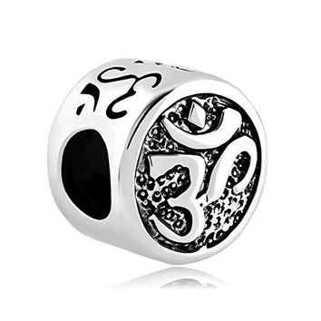 CharmsStory Om Symbol Aum Love Yoga Lucky Charms Bead Charm For Bracelets