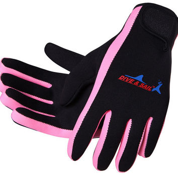 Hot selling Scuba Wetsuit Diving Surfing Snorkeling Kayaking Winter Swimming Gloves 1.5MM Neoprene Skid-proof