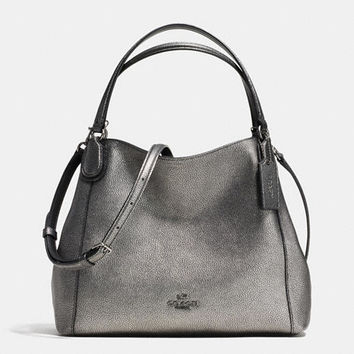 Edie Shoulder Bag 28 Metallic Pebble Leather