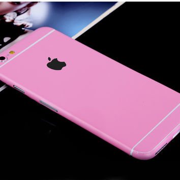 Pink Pure Decal Wrap Skin Set iPhone 6s 6 / iPhone 6s 6 Plus