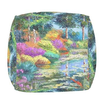 garden outdoor pouf