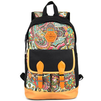 Womens Mens Ethnic School Backpack Travel Bag Bookbag Daypack Gift