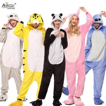 Animal Costume Onesuits Adult Overall Pajama Women Men Party Jumpsuit Cartoon Onepiece  Stitch Panda Funny Suit 28 ColorsKawaii Pokemon go  AT_89_9