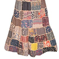 Womens Maxi Skirt Vintage Patchwork Colorful Bohemian Fashion Skirts: Amazon.ca: Clothing & Accessories
