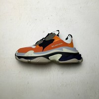[ Free  Shipping ]Balenciaga Triple-S Orange /White   Running Sneaker