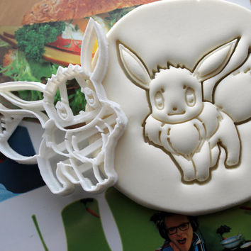 Pokemon Eevee Cookie Cutter / Made From Biodegradable Material / Brand New / Party Favor / Kids Birthday / Baby Shower / Cake Topper Gift