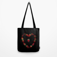 Heart of strawberries Tote Bag by vanessagf
