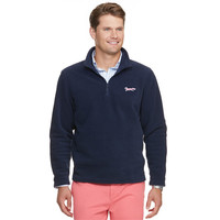 Longshanks Custom Fleece 1/4 Zip Pullover in Navy by Vineyard Vines
