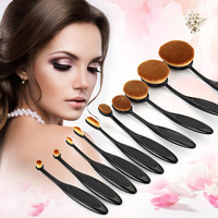 10PC/Set Professional Makeup Brush Kits Shaped Eyebrow Foundation Power Face Lip Eyeliner Brushes Sets Makeup Beauty Tools Sets
