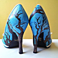 Hand painted high heels women's size 8